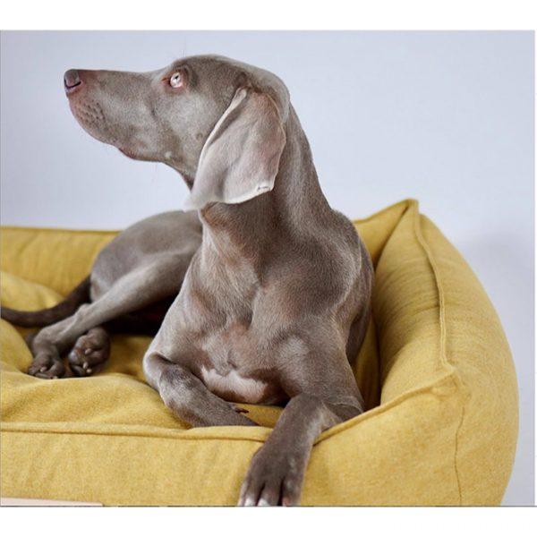 luxe hondenbed geel