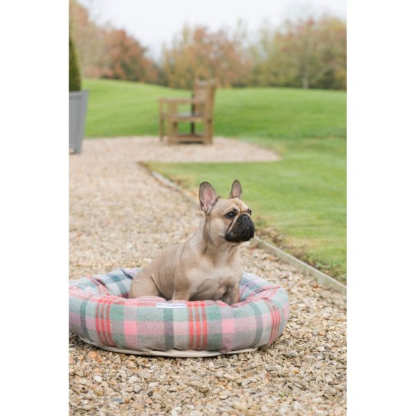 Trendy Macaroon Check Tweed Hondenmand