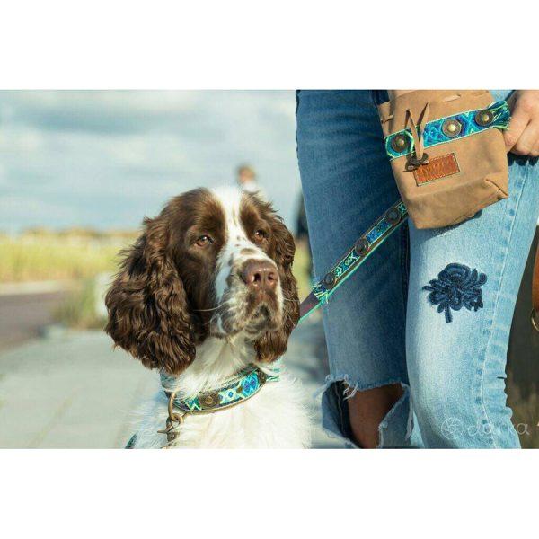Hippe Leren hondenriem Boho Juan van Dog With a Mission