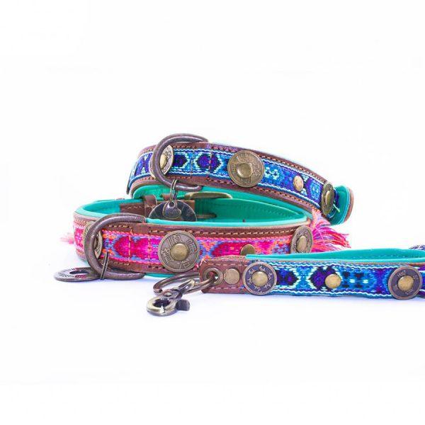 Roze halsband Boho Rosa