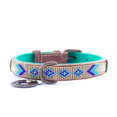 stijlvolle leren hondenhalsband indi moon