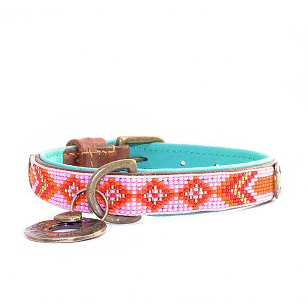 Luxe hondenhalsband Sweet Mae roze