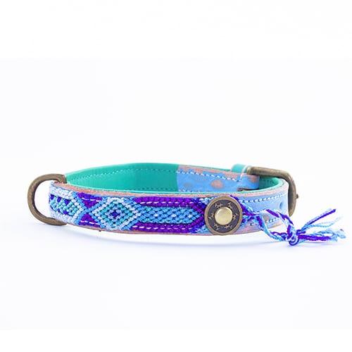 Blauwe halsband blue-2cm