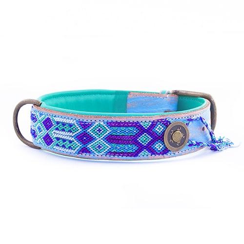 Dog With a Mission gypsy halsband blue-4cm