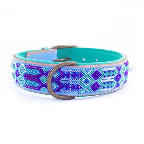 Dog with a mission hondenhalsband blue-4cm