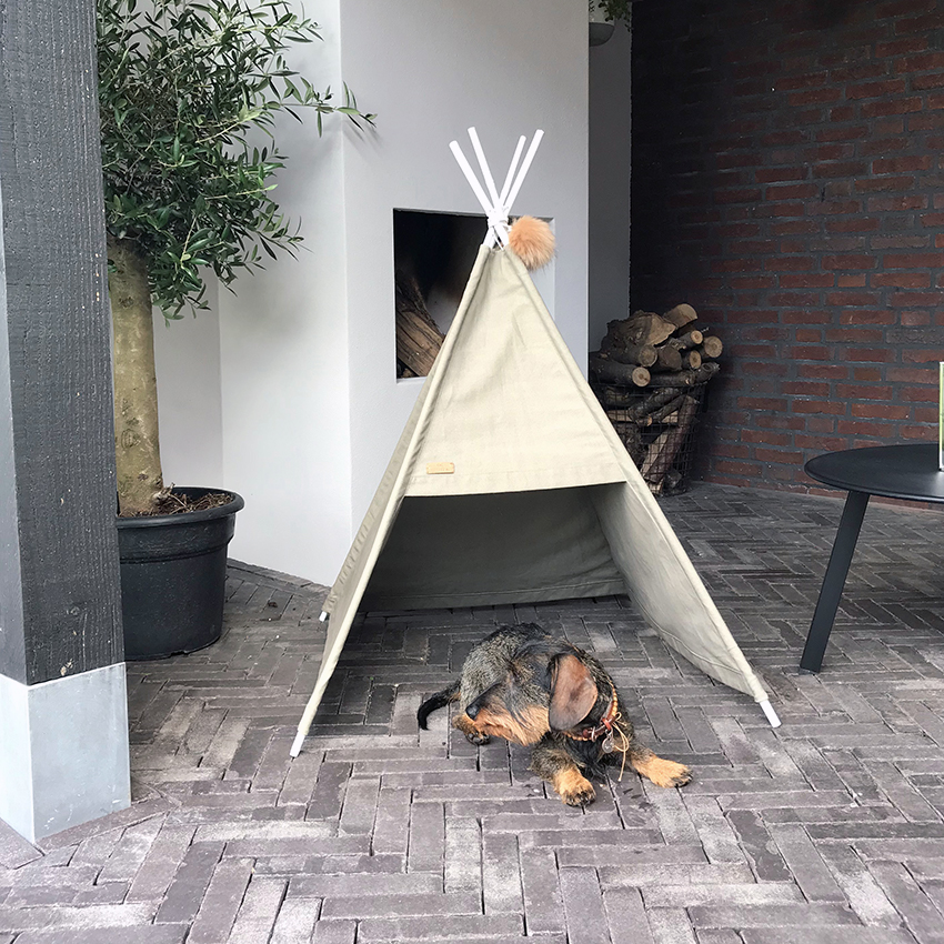 Honden tipi tent DOGA modern sand