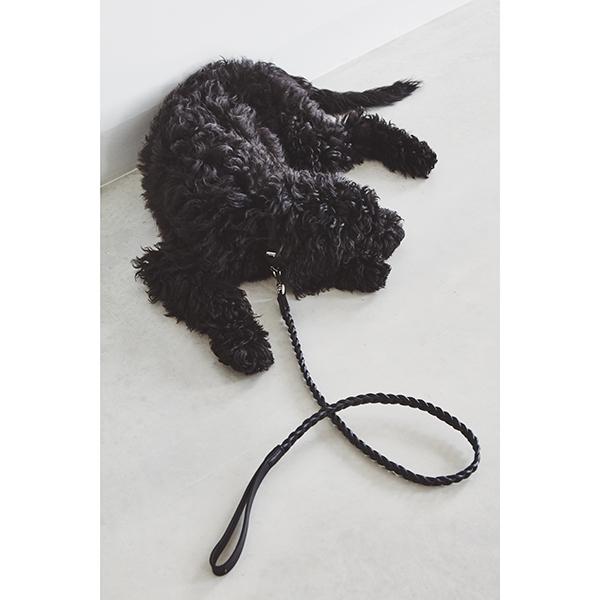 Leren Hondenriem Bergamo Zwart