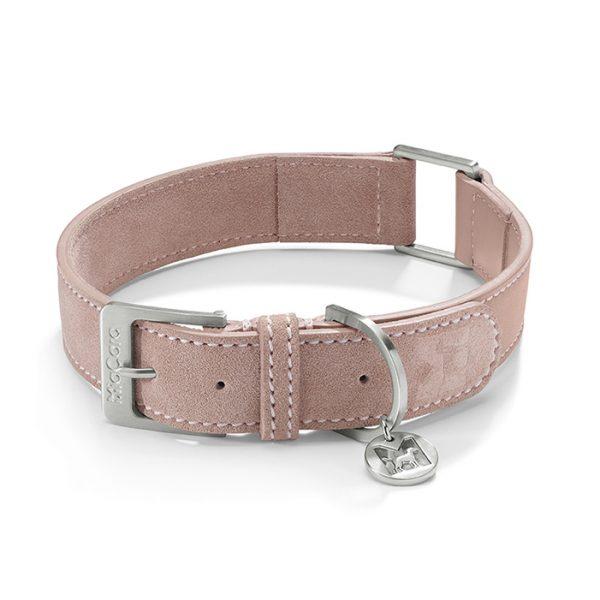 Miacara Leren Suède hondenhalsband Como roze