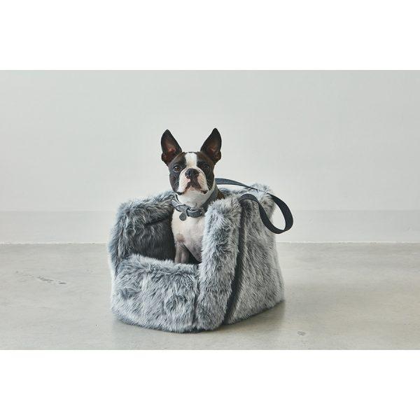 Stijlvolle Suède hondenhalsband grijs