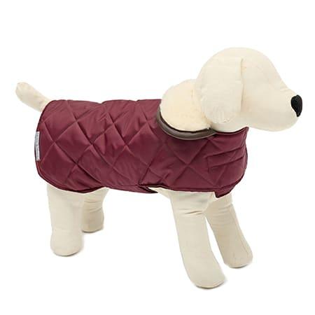 Gewatteerde hondenjas rood