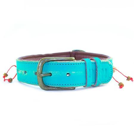 leren hondenhalsband dog with a mission bon bini