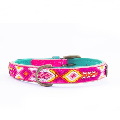 leren hondenhalsband rose-2cm