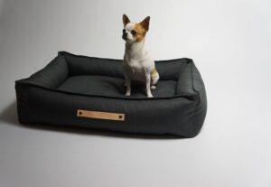 Mooie hondenmand Scandinavische woonstijl