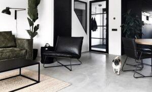 Mooie hondenmand scandinavisch interieur