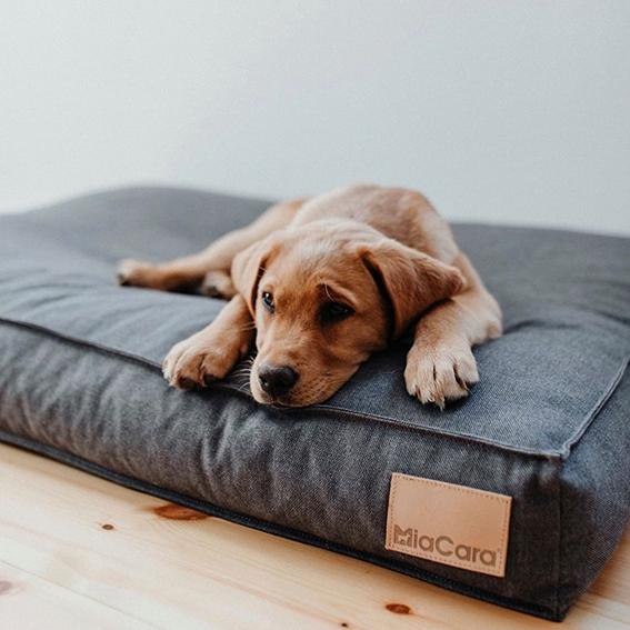 luxe Hondenkussen Lino antraciet