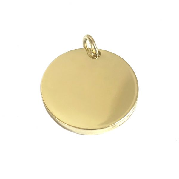 Gouden hondenpenning krans achterzijde