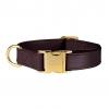 Luxe Hondenhalsband Bruin met goud